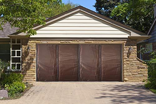 Liveinu isolamento termico tenda magnetica per porte garage impermeabile zanzariera magnetica con thermo per camera climatizzata isolamento acustico 550x240cm marrone
