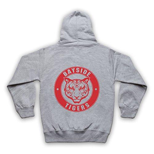 Inspiriert durch Saved By The Bell Bayside Tigers Unofficial Kinder Kapuzensweater mit Rei§verschluss, Grau, 5-6 Jahren (Bell Bayside Tigers)