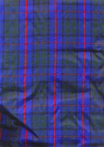 Seide Tartan-rock (Seide Dupionseide New Scottish Tartan überprüfen Stoff 137,2cm breit Tour # C10)