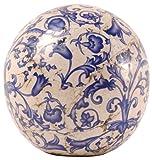 Esschert Design Blau-Weiß Keramik Dekokugel