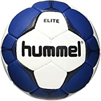 Hummel Balonmano para parte & entrenamiento–Tamaño 2o 3–SMU Elite HB–Resina Ball Blanco disponible con azul, verde o rojo–Balón de entrenamiento con Air de Trap de válvula, Otoño-invierno, color Blanco, azul, tamaño 1