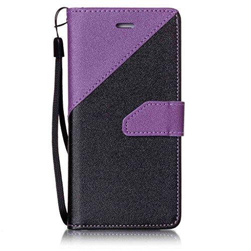 iPhone 7 Coque,Fodlon® Mode Bats toi Couleur Carte Machines à sous avec Cordon Téléphone Housse -Marron Violet foncé