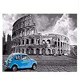 Sin Marco Arena Diy Pintura Por Números Resumen Viaje En Coche Pintura Al Óleo Sobre Lienzo Roma Acrílico Decoración Para El Hogar 40X50 Cm