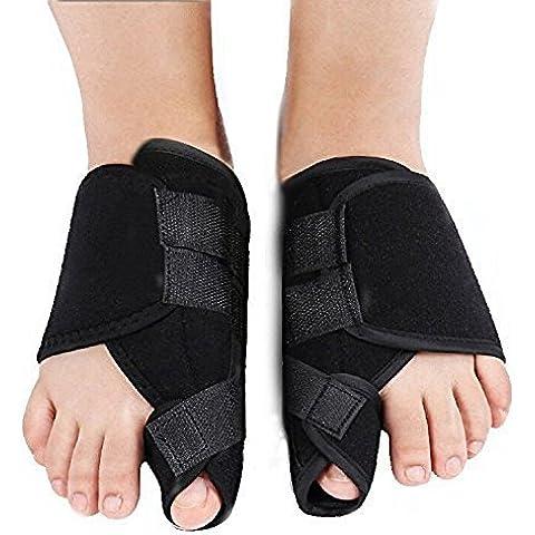 g-smart 1par férula, férula Corrector para Crooked dedos de los pies alineación & Big Toe Alivio del Dolor de las articulaciones, Prevenir férula cirugía, Paquete de 2(pie izquierdo + pie derecho)