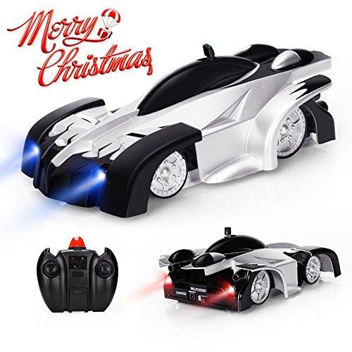 Baztoy ferngesteuert es Auto, Kinderspielzeug für Jungen und Mädchen, Dual-Mode-360 ° Stunt Kletterwand Auto mit Fernbedienung, Vorne und hinten mit LED Beleuchtung intelligente leuchtende USB-Kabe
