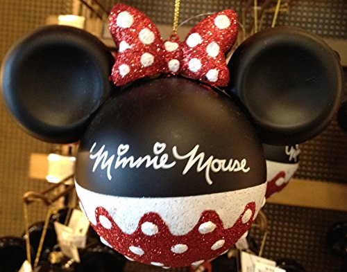 Disney parks minnie mouse glitter ornament parks exclusive & limited availability comes with a minnie mouse magnete a 9.95value free great calza della befana.