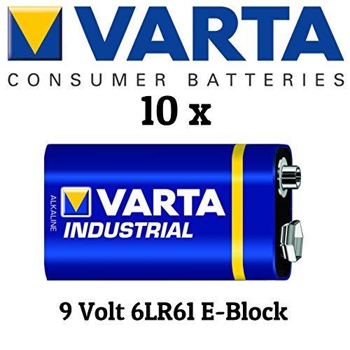 Varta 4022 10x Industrial 9V Block Batterie Alkaline Industrie Alkaline-batterien