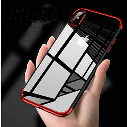 Borkano Coque iPhone X, Coque iPhone 10 Transparente Souple Ultra Fine TPU Silicone - Adhérence Parfaite - Anti-Trace -...