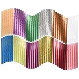 Hot Glue Sticks 7 mm x 100 mm 60 pcs Mini Glitter Hot Melt pegamento Sticks para DIY Art Craft Proyectos y sellado compatible con la mayoría de Pistolas de pegamento 12 colores