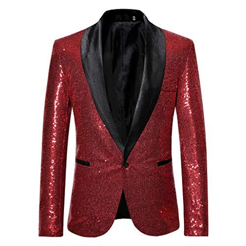 0a035a88ea93e6 VRTUR Herren Shiny Pailletten Anzug Multi Farbe und Größe der Männer  Hübsche Jacken-Blazer für Nachtklub
