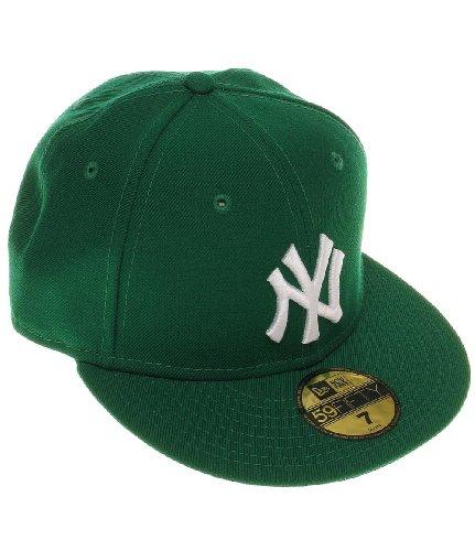 New Era Erwachsene Baseball Cap Mütze Mlb Basic NY Yankees 59Fifty Fitted Green-White