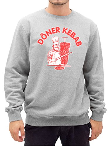 Döner Kebab Sweater Grey Certified Freak-M Biber Sweatshirt