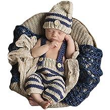 Ateid Disfraz Atrezzo de Fotografía Traje Para Bebé Recién, 0-12 Meses, Raya