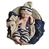 Ateid Neugeborene Fotografie Kostüm Kreativ Baby Fotoshooting Set Streifen