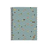 Miquelrius - Cuaderno Ecotriangles A5, 120 hojas (franjas de 4 colores), papel reciclado, cuadrícula 5 mm, Tapa de cartón reciclado