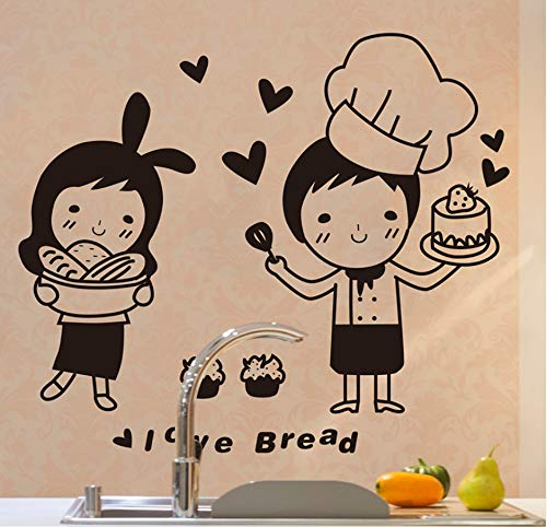fkleber Küche Cartoon Japanische Süßwaren Lebensmittel Aufkleber Für Cafe Küche Dekoration Haushalt Wandbild Aufkleber ()