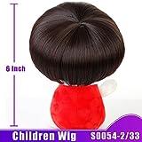 SHANGKE HAIR Kinder Perücke synthetische hitzebeständige Faser kurze glatte Haare flache Haarteile