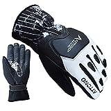 ATTONO Skihandschuhe Leder Softshell Ski Racing Snowboard Handschuhe - Größe 8/M