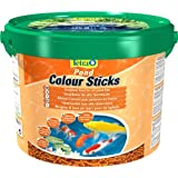 Tetra Pond Colour Sticks Hauptfutter (zur Entfaltung der natürlichen Farbenpracht aller Teichfische), 10 liters Eimer