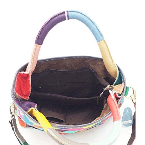 Eysee, Borsa tote donna multicolore Black 32cm*28cm*13cm Multicolore