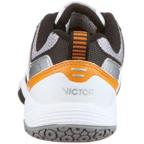 VICTOR 827 VICTOR V-9000 wideform, Unisex - Erwachsene Sportschuhe - Indoor Weiss/Orange/White/Black