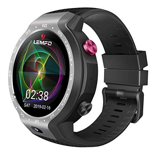 QKa Smart Watch Phone 4G LTE Dual Systeme, 1GB + 16GB Android 7.1.1.600Mah Batterie Pulsmesser, Schrittzähler, GPS Smartwatch Armband für Männer Frauen,Gray (Sprint-smart Watch)