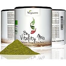 SUPERFOOD VITALITY MIX 200 g de Vegavero, proteínas Bio cáñamo + BIO + BEETROOT + BIO Moringa oleífera, CALIDAD DE LOS ALIMENTOS crudo, vegano, en el bello Refill DOSIS, calidad 200 g de Alemania