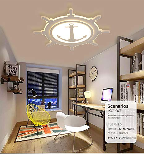 Raumdeckenleuchte persönlichkeit kreative schlafzimmer lampe led kinderzimmer deckenleuchte kindergarten ruder beleuchtung warmweiß 500mm24w