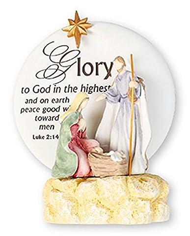 Crèche Sainte Famille Couleur Décoration-Rejoice dans Le Seigneur Motif décorations de Noël