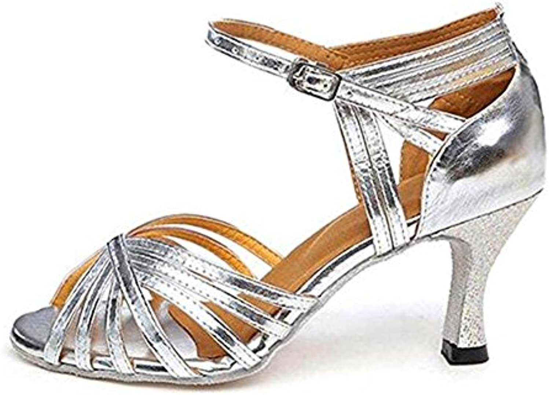 TGKHUS Sandalias, Señoras, Latino, Baile, Zapatos, Moderno