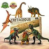 Dinosaurier-Spielzeug, Bewegliche Teile 6 Realistische Dinosaurier-Figuren Bis 11''(28cm) Großes Set, Ungiftig Geschmacklos Dinosaurier-Spielzeug Assorted Vinyl Kunststoff-Dinosaurier für Kinder