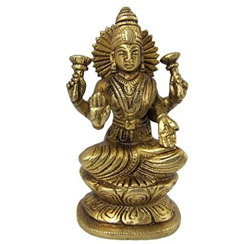 déesse hindoue Lakshmi laiton statue de la prospérité et de la richesse