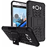 QZEY Kick Stand Hard Dual Rugged Armor Hybrid Bumper Back Case Cover For Samsung Galaxy Grand Neo - Black