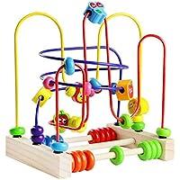 Juegos de Laberintos Motricidad Fina Ábaco Infantil Laberinto Cuentas Juguete Laberinto Madera Infantil Juguetes de Madera de Montessori para Niños Juguetes Niños 3 4 5 Años