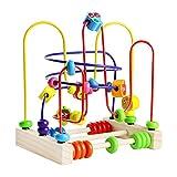 Giocattoli Rotolamento Bead Maze di Legno Prima Infanzia Frutta Giochi Educativi Matematica per Bambini 3 Anni