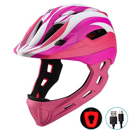 QIANG MATT Helm Kinderhelm Motorradhelm Crosshelm Motocrosshelm Sport,Pink