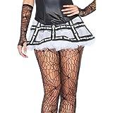 Leg Avenue Mini falda de tul y Patrón Os Negro / blanco Tamaño