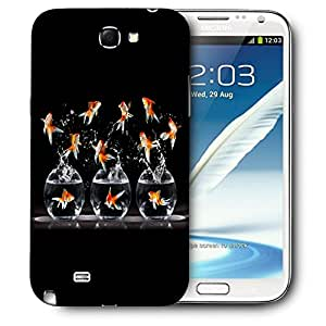 Snoogg Gold Fish Designer Protective Back Case Cover For SAMSUNG Galaxy Note 2 N7100