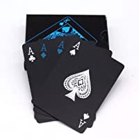 PROTOS INDIA.NET ProtosIndia.Net™ Poker Playing Cards Waterproof Unique Black Good Quality Plastic Colorful Deck (52+2…