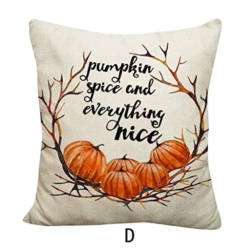 Uhrwerk Orange Kostüm Frauen - jieGREAT ❤❃ Räumungsverkauf❤❃ ,Halloween Kürbis werfen Kissenbezug Kissenbezüge dekorative Sofa Kissenbezug