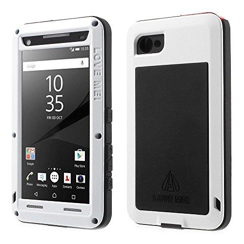 Sony Xperia Z3 Hülle Case, Eastcoo wasserdicht stoßfest Alloy Aluminum Metal Bumper Gorilla Glass Soft silikon Military Schwer Metall Militär Starkes hartes Hülle Tasche Cover für Sony Xperia Z3