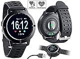 Newgen Medicals Fitness-Bänder: Fitness-Uhr, Touch-Farbdisplay, Blutdruck- & Herzfrequenzanzeige, IP67 (Aktivitätsband)