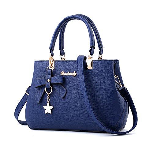 Magic Zone Damen Handtaschen Fashion Handtaschen für Frauen PU Leder Schulter Taschen Messenger Tote Taschen (Zone Farbe Kratzer Farbe Und)