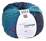 Rico Creative Melange Chunky Fb. 46 – türkis/magenta, Wolle Nadelstärke 6 – 7 mm mit Farbverlauf
