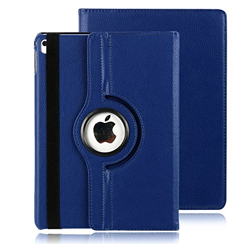 iPad 2018 / 2017 9,7 Hülle, Avril Tian 360 Grad Drehbar Schutzhülle with Auto Sleep / Wake Function Stand Smart Case Cover für Apple Neues iPad 9.7 2018 Model and 2017 9.7 Zoll Tablette,Blau (Cover De Tabletten)
