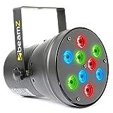 Beamz LED Pinspot (Par-Scheinwerfer mit 9x 1W LEDs, Control Panel, Shows Pre programmiert, Empfindlichkeit Sound, DMX, verschiedene Modi einstellbar)