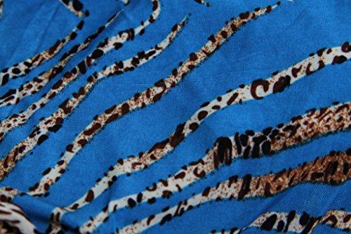 La vogue Sommer Lang Maxi Kleid Strandkleid Tief V Ärmellose F5