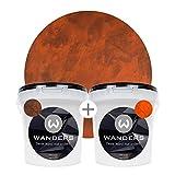 Wanders24 Rost-Optik (2 Liter Komplettset) Wandfarben für Rost-Effekt, individuelle Gestaltung für Zuhause, Farbe Made in Germany