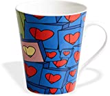 #9: Clay Craft Valentine-2 Bone China Milk Mug, 350ml, Multicolour
