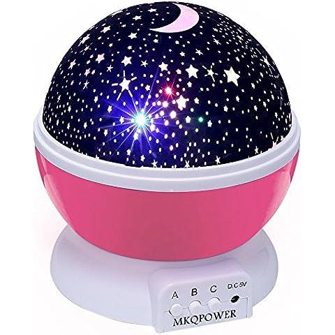 2nd Generación 360 grados de rotación Cosmos estrellada romántica cielo de la estrella Projector Lamp envío gratis (Rosa)